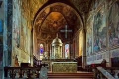 MILÁN, ITALY/EUROPE - 28 DE OCTUBRE: Vista interior de la cátedra Fotografía de archivo libre de regalías