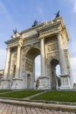 Milán: Paso del della de Arco Imagen de archivo libre de regalías