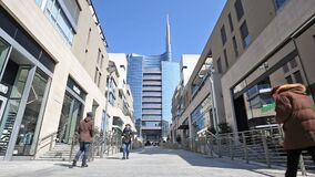 Milán: Vincenzo Capelli Street almacen de video