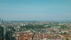 Milán, vista aérea de la ciudad