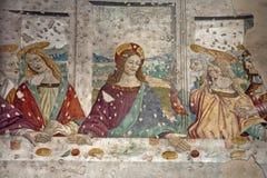 Milão - detalhe de último super de Christ fotografia de stock royalty free