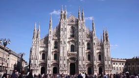 Milão, domo da praça vídeos de arquivo