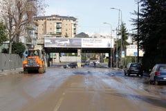 Milão a inundação de seveso do fiume Fotos de Stock Royalty Free
