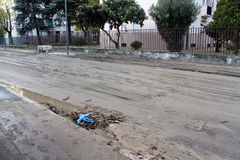 Milão a inundação de seveso do fiume Fotografia de Stock