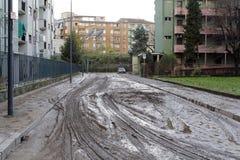 Milão a inundação de seveso do fiume Fotografia de Stock Royalty Free