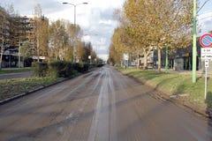 Milão a inundação de seveso do fiume Imagens de Stock Royalty Free