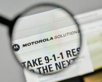 Milão, Itália - 1º de novembro de 2017: Logotipo das soluções de Motorola no Imagem de Stock Royalty Free
