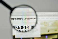 Milão, Itália - 1º de novembro de 2017: Logotipo das soluções de Motorola no Imagem de Stock