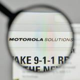 Milão, Itália - 1º de novembro de 2017: Logotipo das soluções de Motorola no Imagens de Stock Royalty Free