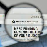 Milão, Itália - 1º de novembro de 2017: Logotipo das soluções de Motorola no Foto de Stock Royalty Free