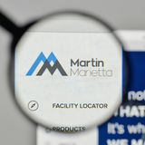 Milão, Itália - 1º de novembro de 2017: Logotipo de Martin Marietta Materials Fotografia de Stock Royalty Free