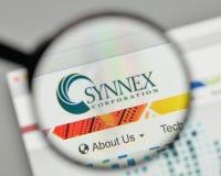 Milão, Itália - 1º de novembro de 2017: Logotipo de Synnex na casa do Web site Imagem de Stock Royalty Free