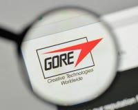 Milão, Itália - 1º de novembro de 2017: W L Logotipo de Gore & de associados sobre imagem de stock