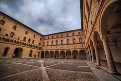 Milão, Itália: Castelo de Sforza, Castello Sforzesco fotos de stock