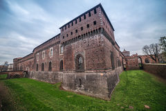 Milão, Itália: Castelo de Sforza, Castello Sforzesco imagem de stock