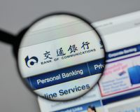 Milão, Itália - 10 de agosto de 2017: Banco do logotipo das comunicações em t Foto de Stock