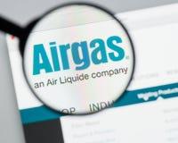 Milão, Itália - 10 de agosto de 2017: Homepage do Web site de Airgas É t Imagens de Stock Royalty Free