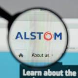 Milão, Itália - 10 de agosto de 2017: Homepage do Web site de Alstom É a Imagem de Stock Royalty Free