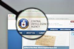 Milão, Itália - 10 de agosto de 2017: Homepage do Web site do CIA É um ci Fotografia de Stock Royalty Free
