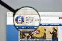 Milão, Itália - 10 de agosto de 2017: Homepage do Web site do CIA É um ci Imagem de Stock Royalty Free