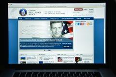 Milão, Itália - 10 de agosto de 2017: Homepage do Web site do CIA É um ci Foto de Stock Royalty Free