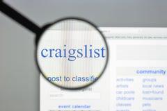Milão, Itália - 10 de agosto de 2017: Homepage do Web site de Craigslistorg Imagem de Stock Royalty Free