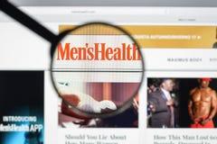 Milão, Itália - 10 de agosto de 2017: Homepage do Web site da saúde dos homens Mim Foto de Stock Royalty Free