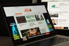 Milão, Itália - 10 de agosto de 2017: Homepage do Web site da saúde dos homens Mim Imagem de Stock
