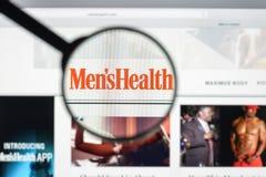 Milão, Itália - 10 de agosto de 2017: Homepage do Web site da saúde dos homens Mim Fotografia de Stock