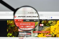 Milão, Itália - 10 de agosto de 2017: Homepage do Web site do Jal É Fotos de Stock