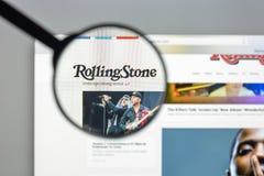 Milão, Itália - 10 de agosto de 2017: Homepage do Web site de Rollingstone Mim Fotos de Stock Royalty Free