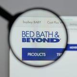 Milão, Itália - 10 de agosto de 2017: Logotipo de Bed Bath & Beyond no nós imagens de stock