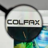 Milão, Itália - 10 de agosto de 2017: Logotipo de Colfax na casa do Web site fotos de stock royalty free