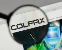 Milão, Itália - 10 de agosto de 2017: Logotipo de Colfax na casa do Web site imagem de stock royalty free