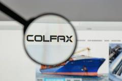 Milão, Itália - 10 de agosto de 2017: Logotipo de Colfax na casa do Web site imagens de stock