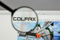 Milão, Itália - 10 de agosto de 2017: Logotipo de Colfax na casa do Web site imagem de stock