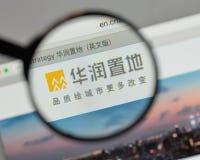 Milão, Itália - 10 de agosto de 2017: Logotipo da terra de China Res no websi foto de stock royalty free