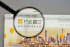 Milão, Itália - 10 de agosto de 2017: Logotipo da terra de China Res no websi imagem de stock royalty free