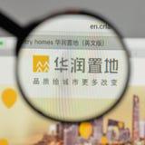 Milão, Itália - 10 de agosto de 2017: Logotipo da terra de China Res no websi fotos de stock royalty free