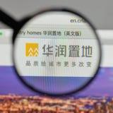 Milão, Itália - 10 de agosto de 2017: Logotipo da terra de China Res no websi fotografia de stock