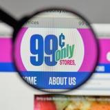 Milão, Itália - 10 de agosto de 2017: Logotipo das lojas dos centavos somente no nós Foto de Stock Royalty Free
