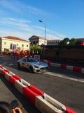 Milão, Itália - 29 de agosto de 2018: O carro de segurança imagens de stock