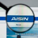 Milão, Itália - 10 de agosto de 2017: Web site de Aisin Seiki É um Ja imagem de stock royalty free