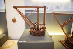 MILÃO, ITÁLIA - 9 DE JUNHO DE 2016: os modelos do ` s de Leonardo da Vinci scien Imagens de Stock