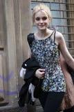 MILÃO, ITÁLIA - 2 DE MARÇO: Jessica Stam modelo atende à beleza extrema no partido de Vogue Fotografia de Stock