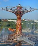 Milão, Itália - 8 de setembro de 2015 Expo Milão 2015 Árvore de Li Foto de Stock Royalty Free