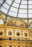 MILÃO, ITÁLIA - 13-05-2017: Galeria Vittorio Emanuele II em Mila Imagem de Stock