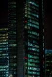 MILÃO, ITÁLIA, O 12 DE FEVEREIRO DE 2015: arranha-céus novo do banco de Unicredit, Milão Foto de Stock Royalty Free