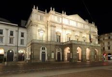 Milão Italy, scala do alla do teatro Foto de Stock Royalty Free