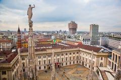Milão, Italy. Vista em Royal Palace foto de stock